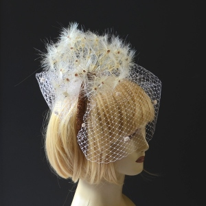 "Marie Mercié's wedding headband ""Dandelion"""