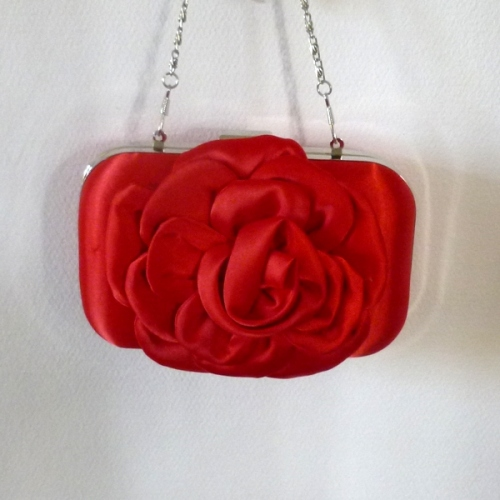Evening, wedding red clutch