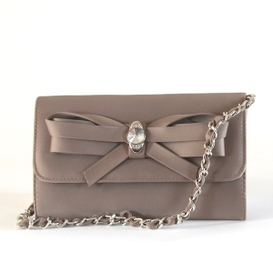 3 COLOURS! Lovely wedding clutch with jewel : light taupe, powder pink or black