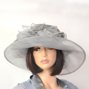 Middle grey wedding hat - polyester