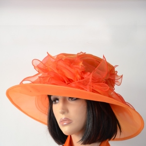 Chapeau en polyester orange