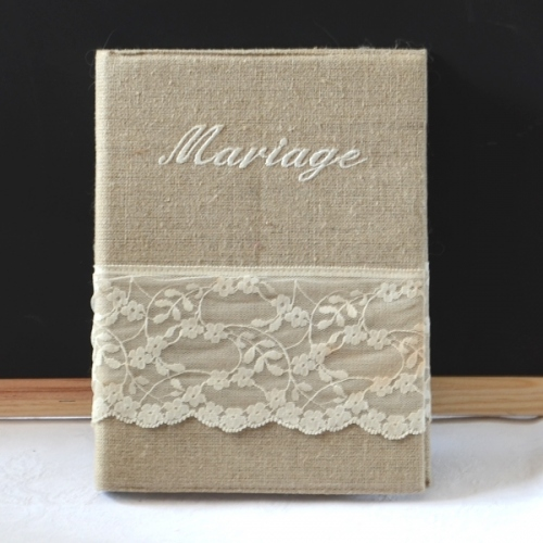 Wedding book to offer or keep. Creation Isabelle Danicourt