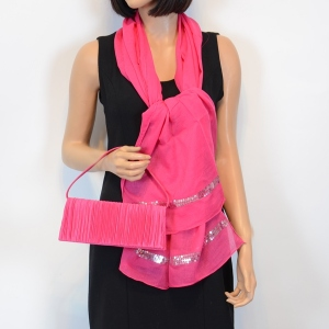 Matching duo of a stole and bag - 4 colours