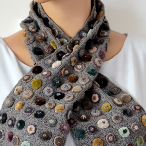 Hand crocheted Sophie Digard's small scarf biscuit pop minus