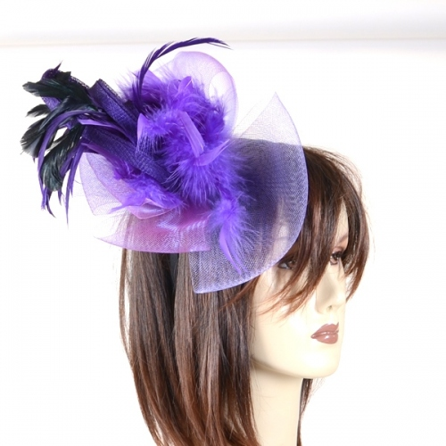 Fascinator with horsehair and feathers