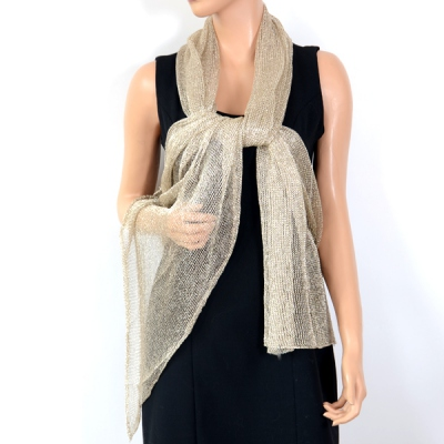 Look metal stole - 2 colours - gold out of stock