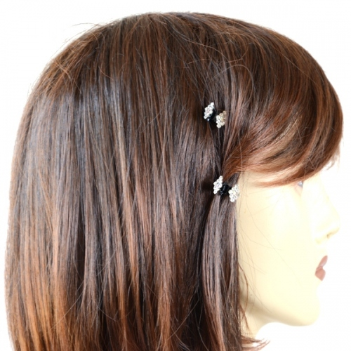 "Hairclip ""Karin"" strass in shape of a butterfly"