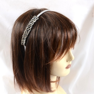 Crystal headband silver or night blue