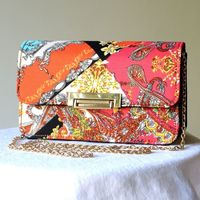 Colourful evening wedding clutch