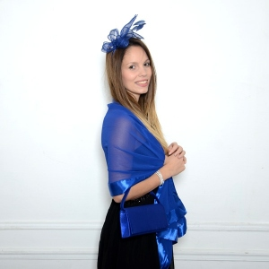 Wonderful royal blue matching accessories for a wedding