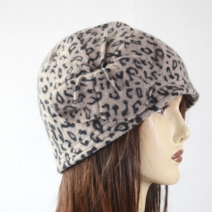 Leopard winter hat