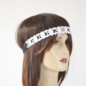 HEADBAND dentelles blanc