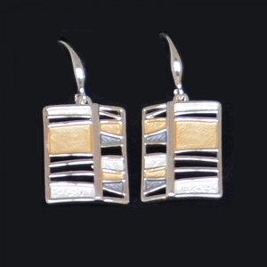"Pierced earrings ""Mondrian"""