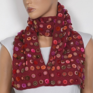 "Big scarf Sophie Digard ""biscuit pop minus"" - hand crocheted"