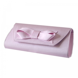 Light pink ottoman evening bag