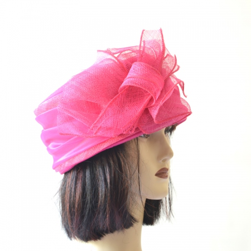 Wedding fuchsia hat