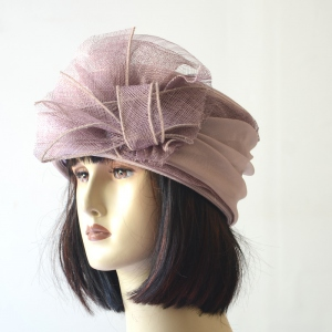 3 COLOURS! Lilac, gold or fushia. Wedding hat sinamay and satin