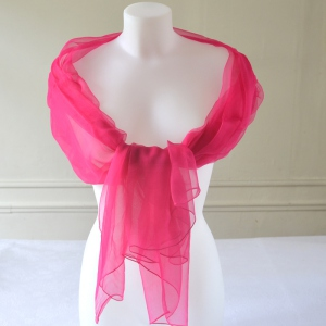 Silk mousseline large foulard - 11 colours -  fuchsia pink out of stock