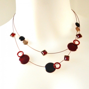 Red necklace planets and stars