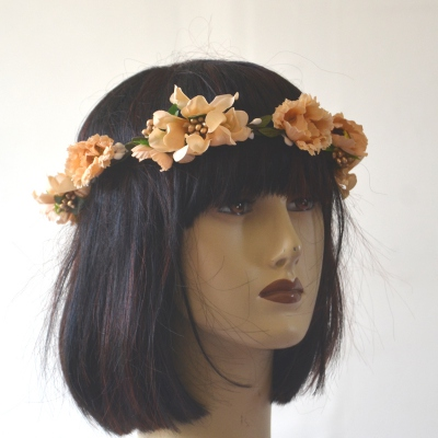 Flowers crown for wedding, evening, fêtes