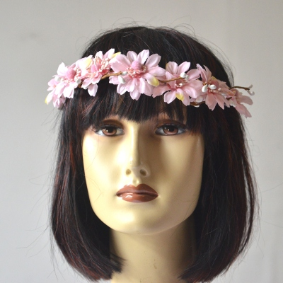 Flowers crown - pink daisies