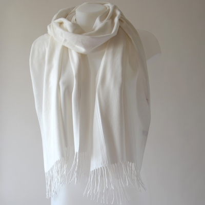 Long wedding or casual ivory scarf