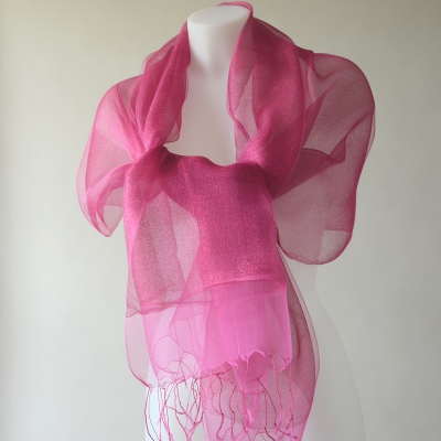 Fushia silk organza for wedding, evenings...