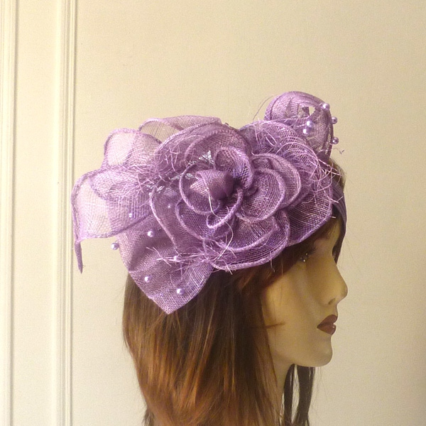 Wedding purple headband