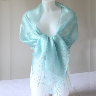Like a fairy! light turquoise brilliant stole