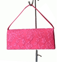 Evening, wedding clutch - fuchsia laces