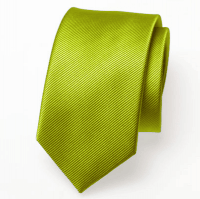 Skinny wedding, evening tie - 100 % one-coloured silk - 12 colours - lime green out of stock