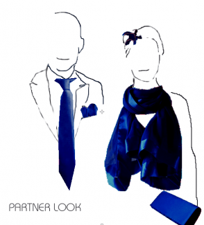 Dark blue PARTNER LOOK wedding, evening accessories