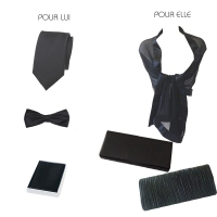 Black PARTNER LOOK - formal matching accessories for man and woman