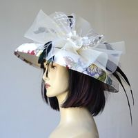 "Exceptional price : Large brimmed wedding hat ""Oceane"" - for weddings, gala evenings, cocktails, horse races"