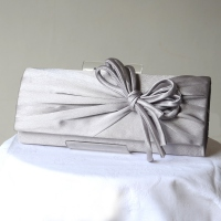 Light or bright wooden rose satin evening bag (grey out of stock)