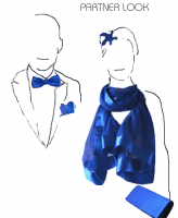 Royal blue PARTNER LOOK : matching he and you wedding, evening accessories