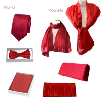 Wedding, evening red accessories for him and her!