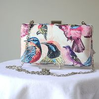 "Wedding, evening clutch with birds - ""Paradis"" - 3 sets of colours"