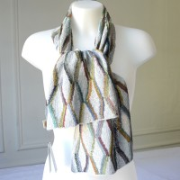 """Large scarf Sophie Digard - 100 % linen - """"70's pants"""""""