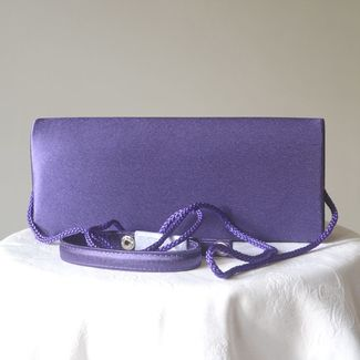Lavender blue evening, wedding clutch