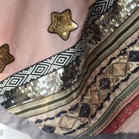 Beautiful and large embroidered foulard - 3 different colours - dust pink (main picture) out of stock!