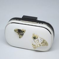 Wedding, evening clutch with two butterflies