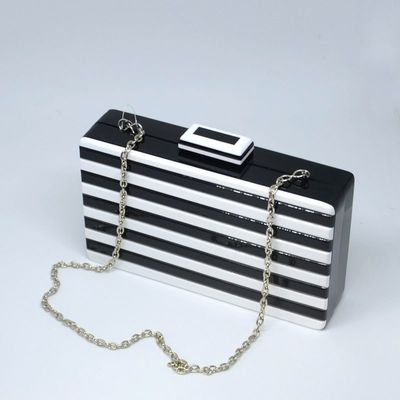 Styly clutch - black and white plexi