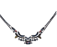 "Ayala Bar necklace ""Blacktree Haze"" - black berries, light pink..."