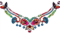 "Ayala Bar necklace - ""Rowan Inspiration"" - fuchsia, blue, green..."