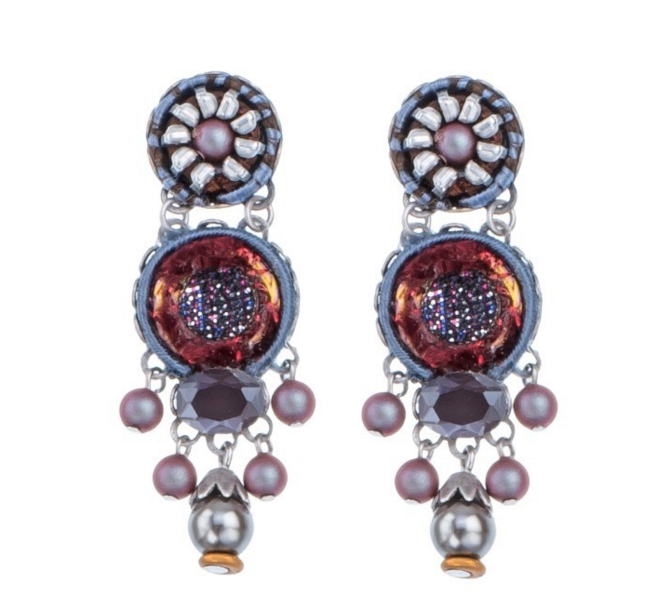 "Superb dangling earrings by Ayala Bar - ""Resonance Ruby"""
