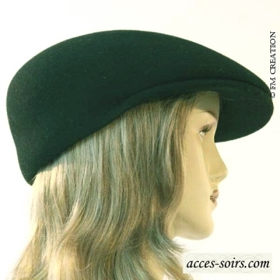 Black felt hat pure wool