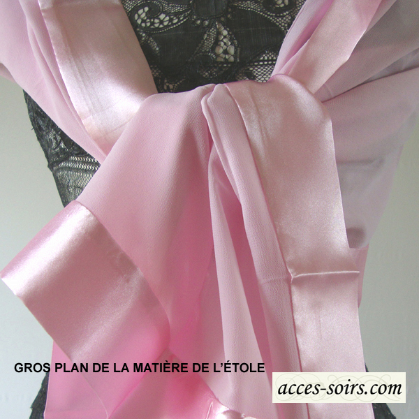 etole mousseline soie satin rose