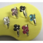 Woman foot Ring Children ring lbutterfly ot of 12Pcs