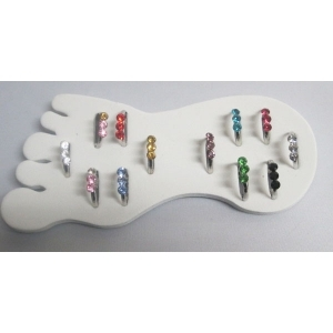 Woman foot Ring Children ring row strass ot of 12Pcs